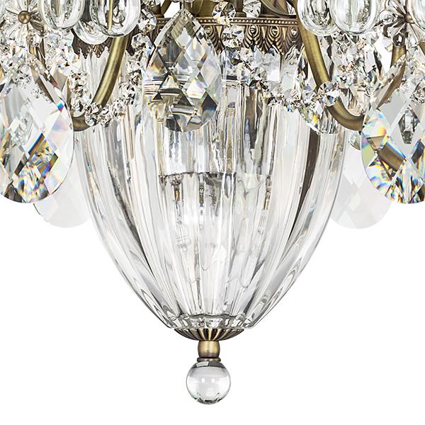 Подвесная люстра Lightstar Osgona Schon 790111, 11xE14x60W, бронза, прозрачный, металл с хрусталем, хрусталь - фото 5