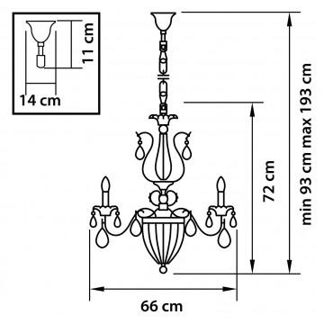 Схема с размерами Lightstar Osgona 790111