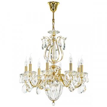 Подвесная люстра Lightstar Osgona Schon 790112, 11xE14x60W, золото, прозрачный, металл со стеклом/хрусталем, хрусталь