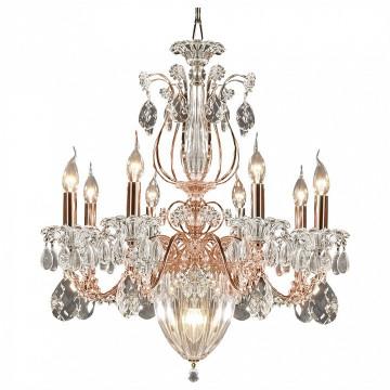 Подвесная люстра Lightstar Osgona Schon 790118, 11xE14x60W, медь, прозрачный, металл с хрусталем, хрусталь