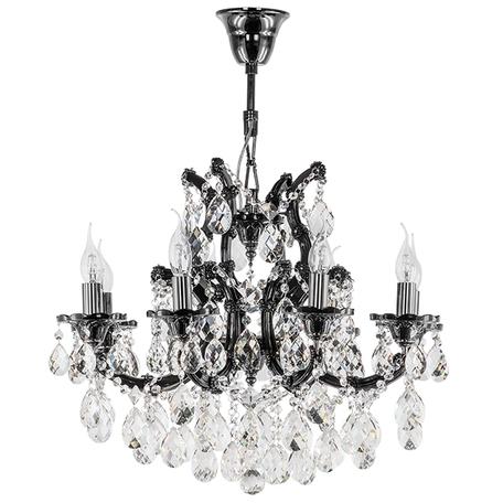 Подвесная люстра Lightstar Osgona Champa Nero 879087, 8xE14x60W, черный, черный хром, прозрачный, стекло, хрусталь