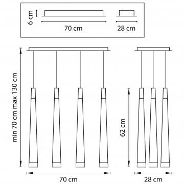 Схема с размерами Lightstar 807063