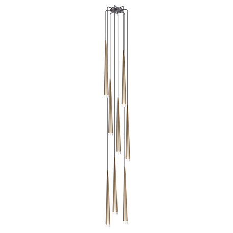 Люстра-каскад Lightstar Punto 807083, 8xG9x25W, хром, матовое золото, металл