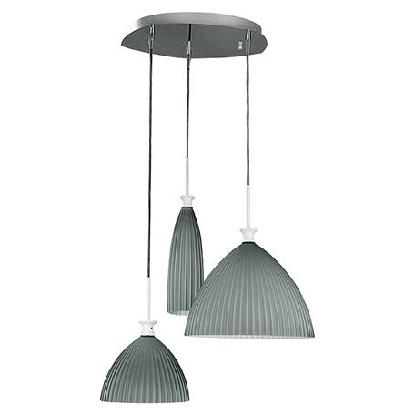 Люстра-каскад Lightstar Agola 810131, 3xE14x40W, хром, серый, металл, стекло