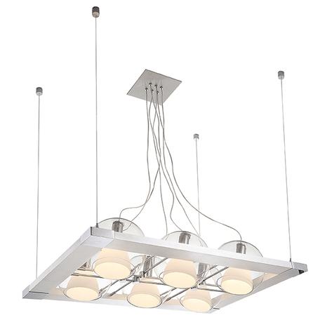 Подвесная люстра с регулировкой направления света Lightstar Palla 803161, 6xE14x40W, хром, белый, прозрачный, металл, стекло
