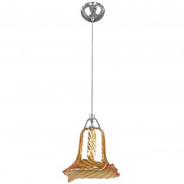 Подвесной светильник Lightstar Colore 796013, 1xG9x40W, хром, янтарь, металл, стекло