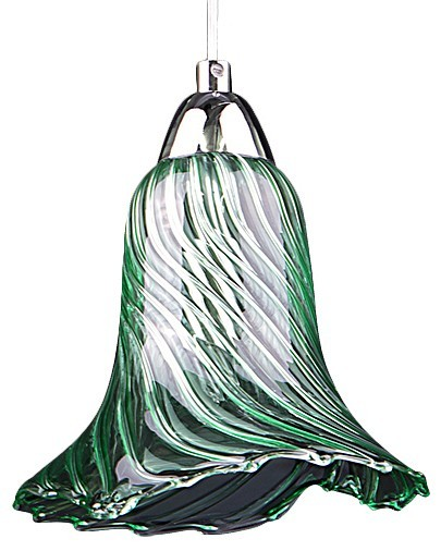 Подвесной светильник Lightstar Colore 796014, 1xG9x40W, хром, зеленый, металл, стекло - фото 1