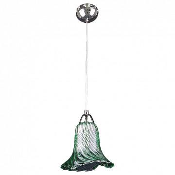 Подвесной светильник Lightstar Colore 796014, 1xG9x40W, хром, зеленый, металл, стекло - миниатюра 2