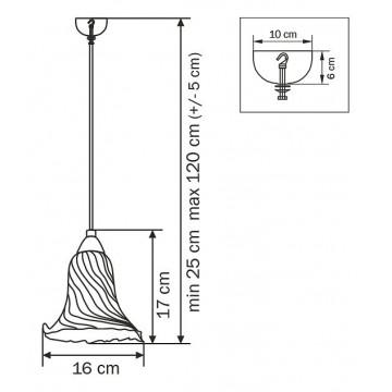 Схема с размерами Lightstar 796014