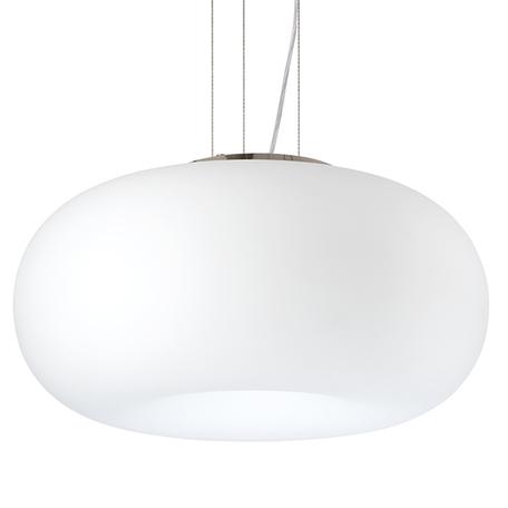 Подвесной светильник Lightstar Meringe 801040, 3xE27x40W, хром, белый, металл, стекло