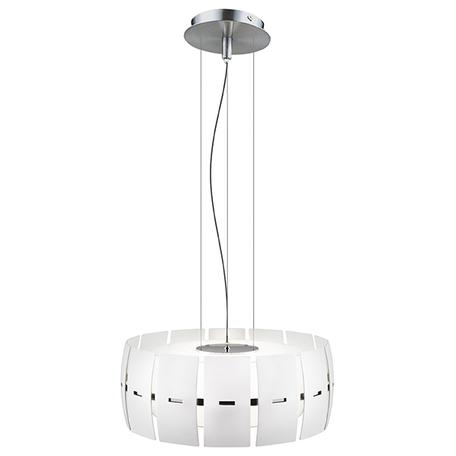 Подвесной светильник Lightstar Lamella 801046, 4xE14x40W, хром, белый, металл, стекло