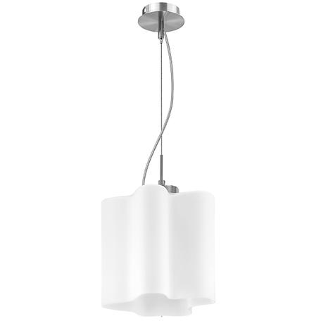 Подвесной светильник Lightstar Nubi 802110, 1xE27x40W, матовый хром, белый, металл, стекло