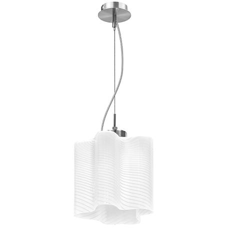 Подвесной светильник Lightstar Nubi Ondoso 802111, 1xE27x40W, матовый хром, белый, металл, стекло