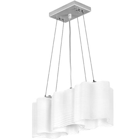 Подвесной светильник Lightstar Nubi Ondoso 802131, 3xE27x40W, матовый хром, белый, металл, стекло