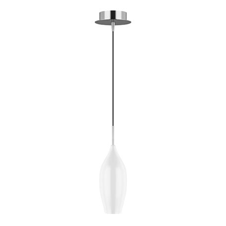 Подвесной светильник Lightstar Pentola 803020, 1xE14x40W, хром, белый, металл, стекло