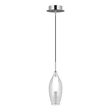Подвесной светильник Lightstar Pentola 803021, 1xG9x25W, хром, прозрачный, металл, стекло