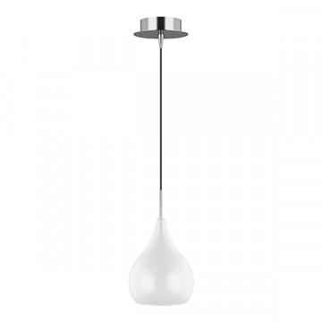 Подвесной светильник Lightstar Pentola 803030, 1xE14x40W, хром, белый, металл, стекло
