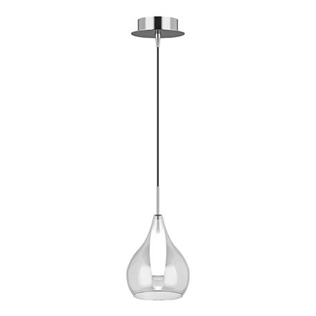 Подвесной светильник Lightstar Pentola 803031, 1xG9x25W, хром, прозрачный, металл, стекло