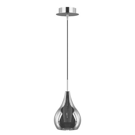 Подвесной светильник Lightstar Pentola 803037, 1xG9x25W, хром, дымчатый, металл, стекло