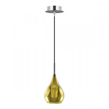 Подвесной светильник Lightstar Pentola 803038, 1xG9x25W, хром, зеленый, металл, стекло