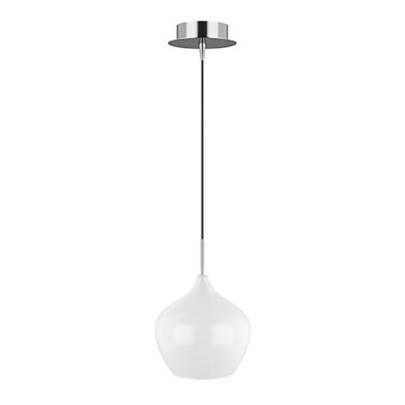 Подвесной светильник Lightstar Pentola 803040, 1xE14x40W, хром, белый, металл, стекло