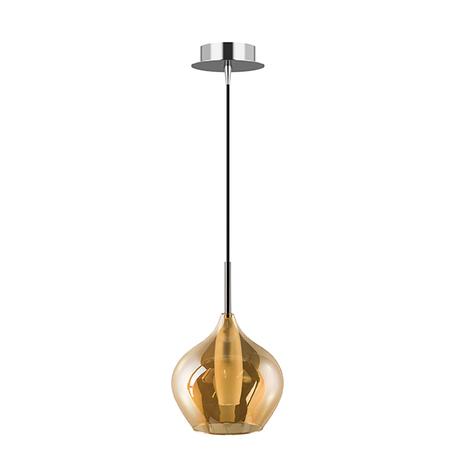 Подвесной светильник Lightstar Pentola 803043, 1xG9x25W, хром, янтарь, металл, стекло