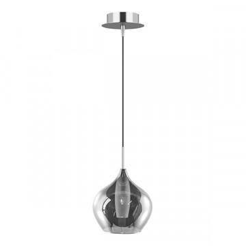 Подвесной светильник Lightstar Pentola 803047, 1xG9x25W, хром, дымчатый, металл, стекло