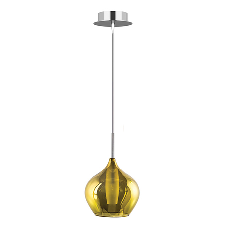 Подвесной светильник Lightstar Pentola 803048, 1xG9x25W, хром, зеленый, металл, стекло