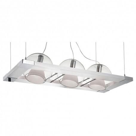 Подвесной светильник Lightstar Palla 803131, 3xE14x40W, белый, хром, прозрачный, металл, стекло