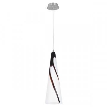 Подвесной светильник Lightstar Cioccolato 804011, 1xE27x40W, хром, белый, коричневый, металл, стекло