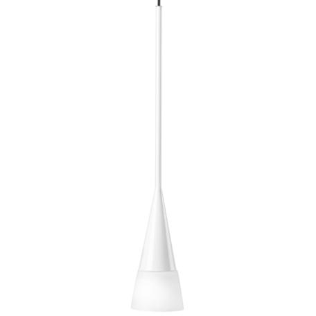 Подвесной светильник Lightstar Conicita 804110, 1xE14x40W, хром, белый, металл, металл со стеклом