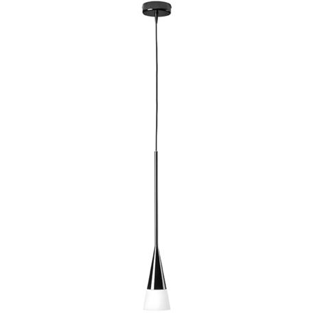 Подвесной светильник Lightstar Conicita 804117, 1xE14x40W, черный, металл, металл со стеклом