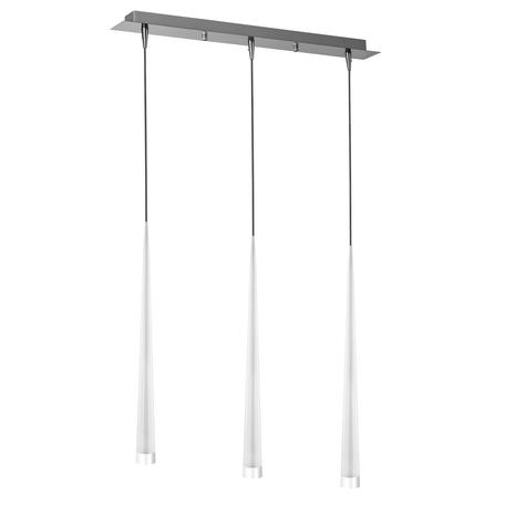 Подвесной светильник Lightstar Punto 807036, 3xG9x25W, хром, белый, металл