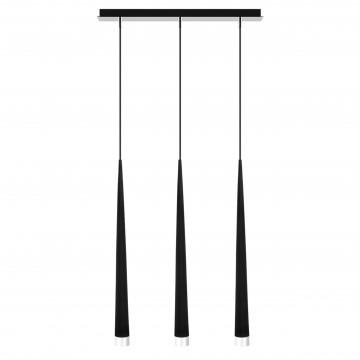 Подвесной светильник Lightstar Punto 807037, 3xG9x25W, хром, белый, черный, металл, стекло