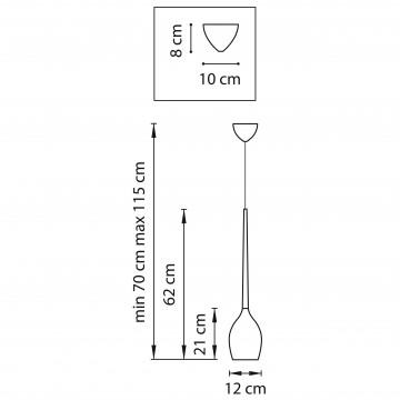 Схема с размерами Lightstar 807111