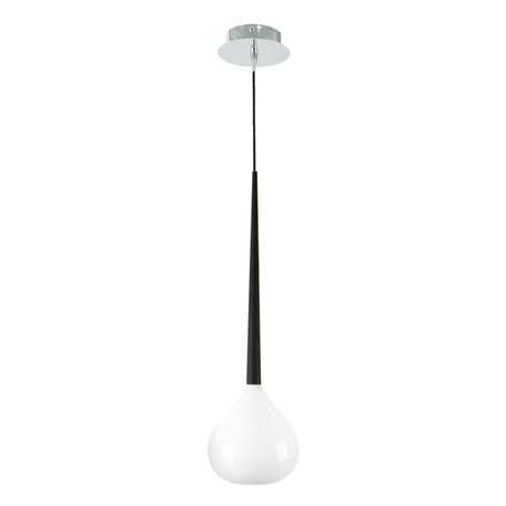 Подвесной светильник Lightstar Forma 808110, 1xE14x40W, хром, черный, белый, металл, стекло