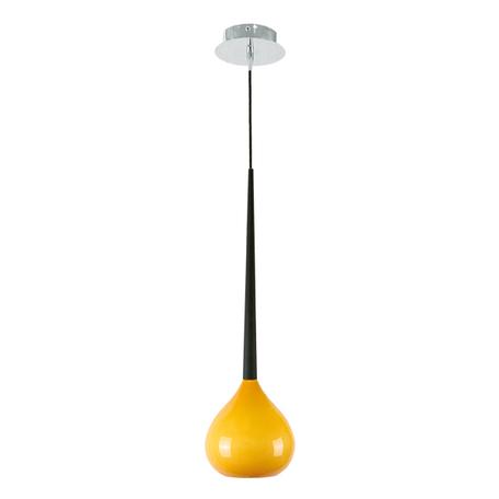 Подвесной светильник Lightstar Forma 808113, 1xE14x40W, хром, черный, желтый, металл, стекло