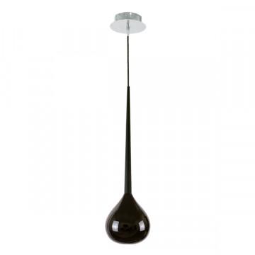 Подвесной светильник Lightstar Forma 808117, 1xE14x40W, хром, черный, металл, стекло