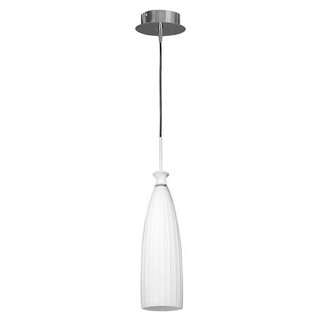 Подвесной светильник Lightstar Agola 810010, 1xE14x40W, хром, белый, металл, стекло