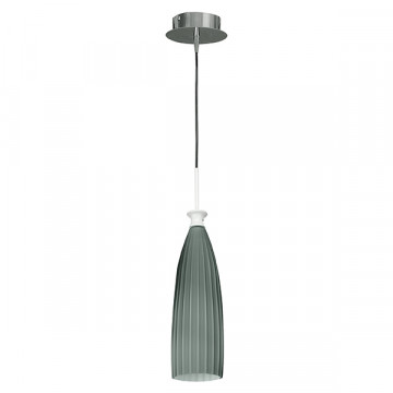 Подвесной светильник Lightstar Agola 810011, 1xE14x40W, хром, серый, металл, стекло