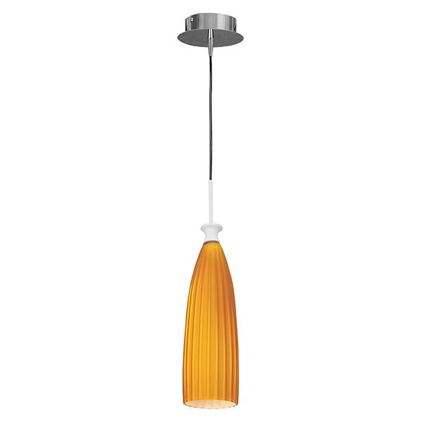 Подвесной светильник Lightstar Agola 810013, 1xE14x40W, хром, оранжевый, металл, стекло - фото 1