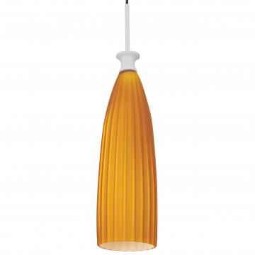 Подвесной светильник Lightstar Agola 810013, 1xE14x40W, хром, оранжевый, металл, стекло - миниатюра 2