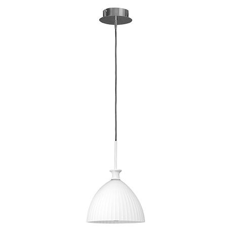 Подвесной светильник Lightstar Agola 810020, 1xE14x40W, хром, белый, металл, стекло