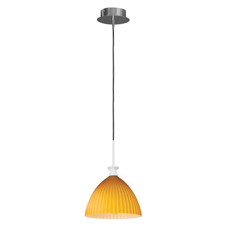 Подвесной светильник Lightstar Agola 810023, 1xE14x40W, хром, оранжевый, металл, стекло
