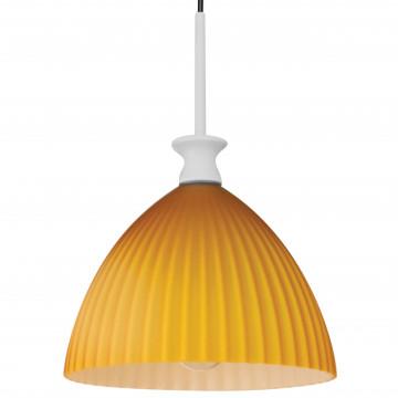 Подвесной светильник Lightstar Agola 810023, 1xE14x40W, хром, оранжевый, металл, стекло - миниатюра 2