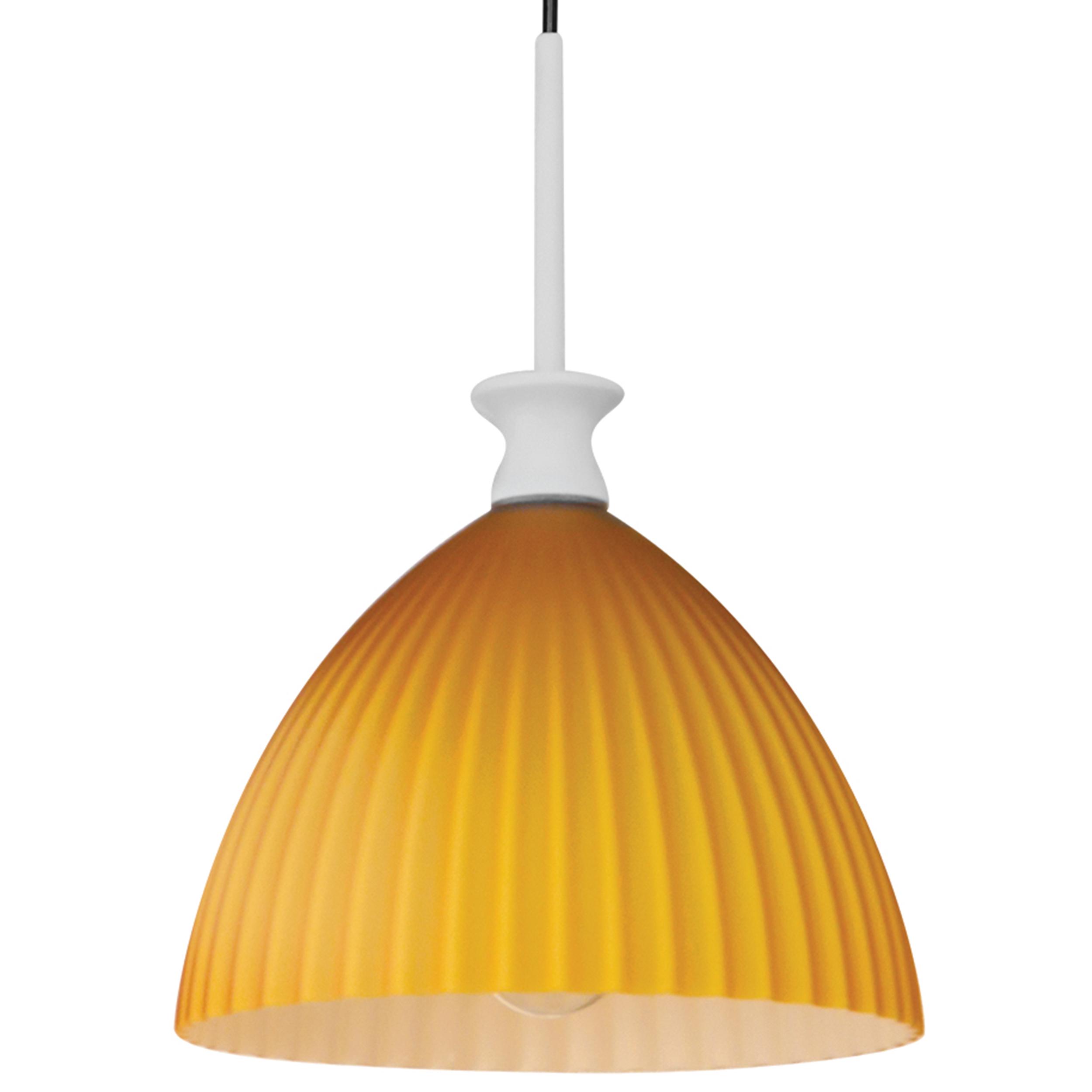 Подвесной светильник Lightstar Agola 810023, 1xE14x40W, хром, оранжевый, металл, стекло - фото 2