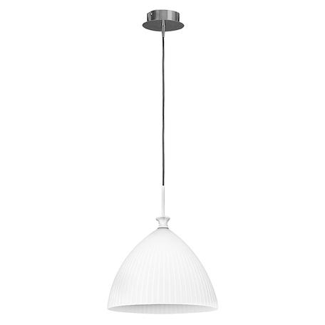 Подвесной светильник Lightstar Agola 810030, 1xE14x40W, хром, белый, металл, стекло