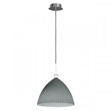 Подвесной светильник Lightstar Agola 810031, 1xE14x40W, хром, серый, металл, стекло