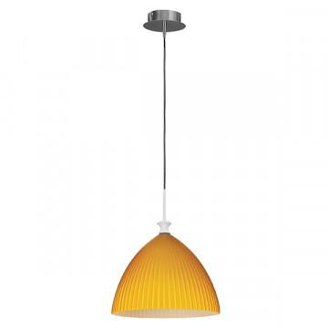 Подвесной светильник Lightstar Agola 810033, 1xE14x40W, хром, оранжевый, металл, стекло