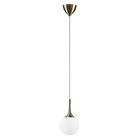 Подвесной светильник Lightstar Globo 813011, 1xE14x40W, бронза, белый, металл, стекло